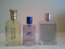 Bulk Lot Of 3 x Mens Perfume Fragrances David Beckham Classic Blue , The Essence