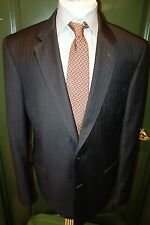 Jos. A. Bank Signature Gold Dark Gray Stripe Suit Size 43L