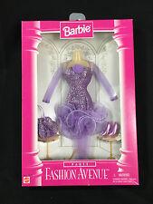"Barbie Fashion Avenue ""PARTY"" purple Lilac dress purse & shoe set MIB"