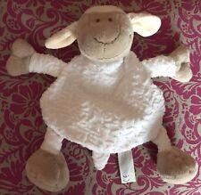RARE Doudou pOUET Mouton ECRU marron beige semi plat Jollybaby Jolly baby
