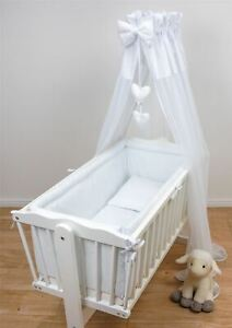 Chiffon Nursery Canopy Drape Mosquito Net + Holder Fits Baby Crib