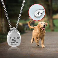 Pendant Necklaces For Ashes Cremation Pet Dog Bone Memorial Urn Jewelry  *au