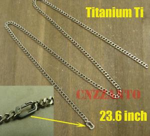 Totally Pure Titanium Curb chain necklace anti-allergy 23.6 inch (60cm) Ti040