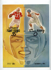 San Francisco 49ers v Los Angeles Rams **VTG** 1961 Program Deacon Jones Rookie!