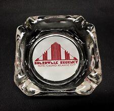 Boardwalk Regency Hotel Casino Atlantic City Square Clear Glass Ashtray