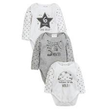 Babytown Unisex Milestone Long Sleeve Bodysuits Multi Size
