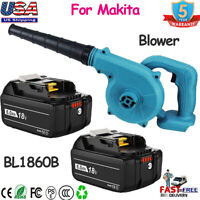 Cordless Blower Vacuum Tool 18V 6.0Ah For Makita Li-ion Battery BL1860B/ Charger