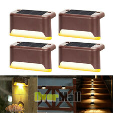 4 Solar LED Bright Deck Lights Outdoor Garden Patio Railing Deck Path Waterproof