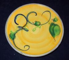 Patrick Galtie Poterie Pottery France Turquoise & Yellow Round Bread Plate