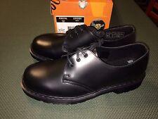 Dr Martens Percival Black Shoes Sz Men 12 US 3 Eye Reg Toe New Made in Thailand