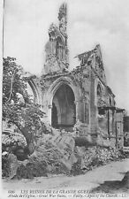 CP RUINES GRANDE GUERRE VAILLY ABSIDE EGLISE