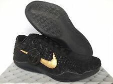 Nike Kobe XI 11 Elite Low FTB Fade To Black Mamba Black Gold 869459-001 SZ 11.5