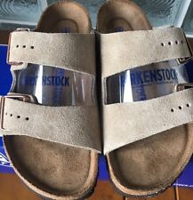Birkenstock ARIZONA 951301 Size 42/L11M9 R Taupe Suede Soft footbed Sandals