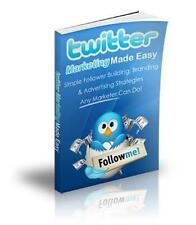 Twitter Marketing Made Easy Ebook On CD $5.95 Plus Resale Rights Free Shipping