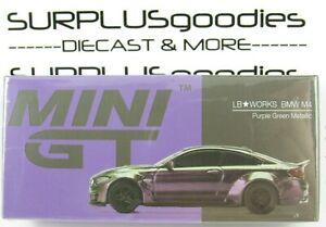 TSM Model Mini-GT 1:64 2021 Overseas Box LHD LB-WORKS BMW M4 Purple-Green Metal