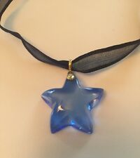 Baccarat Royal Blue Starlet Pendant Choker Necklace BRAND NEW & VERY RARE!