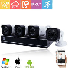 HODELY 8CH 1080N HDMI DVR 1500TVL Outdoor CCTV Video Home Security Camera System