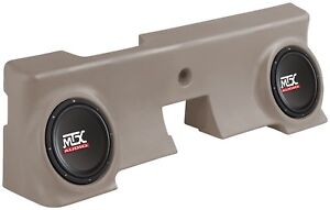 "MTX ThunderForm FORD F-250 Regular Cab Pickup 2000-06 Subwoofer Box w 2-10"" Subs"