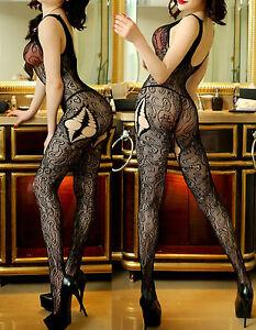7083 Babydoll Fishnet Lingerie Underwear BODYSTOCKINGS Ladies Catsuit jumpsuit
