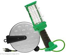 Southwire 30 ft. Metal Cord Reel Retractable 72 LED Work Light Workshop Garage