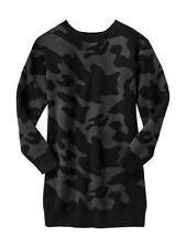 NWT New Gap Kids Girl Camouflage Sweater Dress L 10 True Black