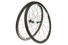 Vision TC24 Road Bike Wheel Set 700c Carbon Tubular Shimano 10 Speed