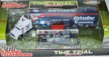 Time Trial Roush TRANSPORTER + NASCAR + PIT SCENE Valvoline - MARK MARTIN - 1:64