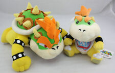 Super Mario Bro.King Koopa & Bowser Jr. Plush Doll Soft Toy One Set Gift US SELL