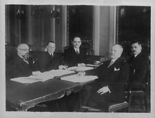 1934 Rulers of Saar League Nations Commission Press Photo