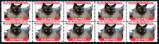 BALINESE FELINE FRIENDS CAT BREEDS STRIP OF 10 MINT STAMPS