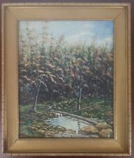 P.R. Pete McShannic 1932 Oil on Canvas Landscape Pittsburg Alleghenys MLB Player