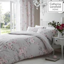 Catherine Lansfield Canterbury Grey Duvet Cover Bedding Set Wallpaper Curtains