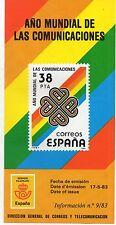 España año Mundial de las Comunicaciones año 1983 (DB-940)
