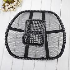 Stylish Relax Car Seat Lumbar Cushion Chair Office Back Waist Support Pad Black