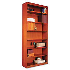 Alera Square Corner Wood Bookcase, Seven-Shelf, 35-5/8 x 11-3/4 x 84, Medium