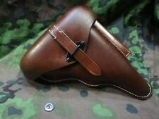 Holster étui en cuir rigide brun pour WALTHER P38  ( P 38 ) 1er modèle WH XX