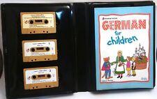 Learning German Language Kids Children Book 3 Audio Cassette Homeschool Kit How