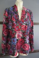 Talbots Shirt Top Knit Multi-Color Lightweight LS Large L XL Floral