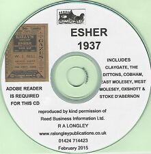 Esher 1937 [Kelly's Directory] CD