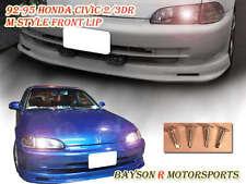 Mu-gen Front Lip (Urethane) Fits 92-95 Honda Civic 3dr