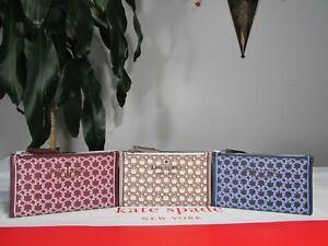 NWT Kate Spade Saffiano PVC Spade Link Small Slim Bifold Wallet