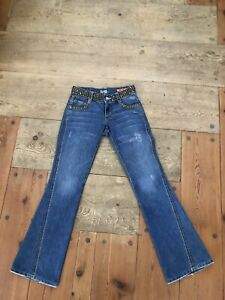 """Women's Tag ID# 1009 Flare Jeans Size 26/30"""" Inseam,Pocket flaps,Studded Waist"""