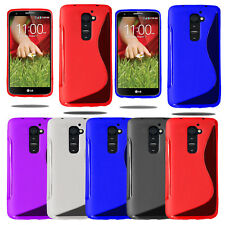 Grip S Line Wave Silicone Gel Case Soft Phone Cover For LG G2 D802 + Screen Film