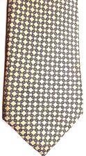 "Resisto Men's Vintage Silk Tie 57.5"" X 3"" Yellow/Black Geometric"