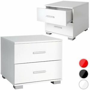 Comodini Moderni in Legno con 2 Cassetti coppia comodini 40x40x35 vari colori