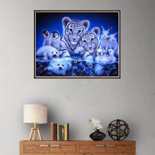 5D Diamond Embroidery Animals Tiger Penguin Sea Lion Rabbit Diamond Painting UK