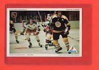 1971-72  Phil Esposito Pro Star NHLPA Postcard nrmnt Vs Rangers