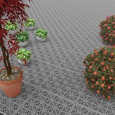 Outdoor Patio Deck Easy Snap Floor Tiles 11.5 x 11.5 Set of 30 Water Drainage