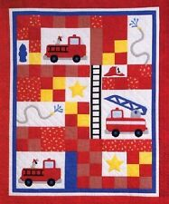 New Applique Crib Quilt Pattern Res Q Me For Your Future Fireman