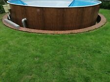More details for 15ft round steel frame swimming pool out side structure & skimmer in or above gr